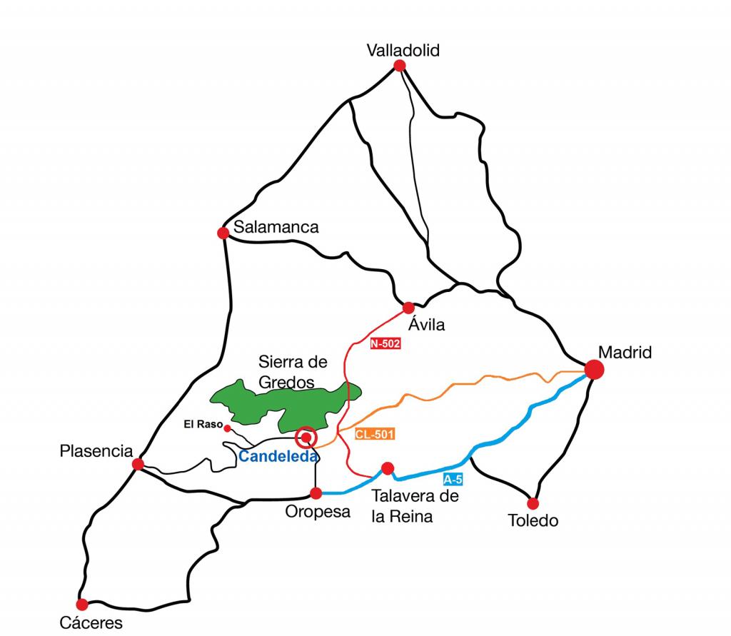 Mapa-accesos-Candeleda