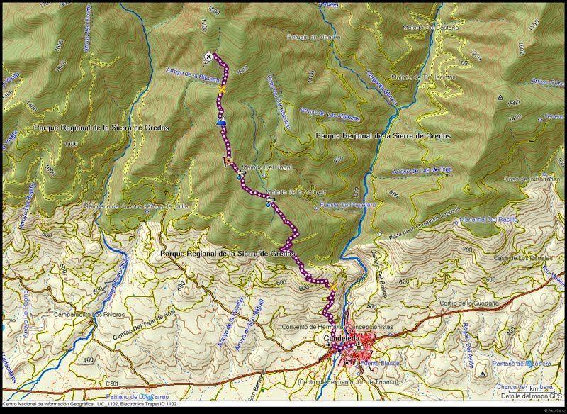 Mapa de la Ruta a los Pozos del Tío Ruperto