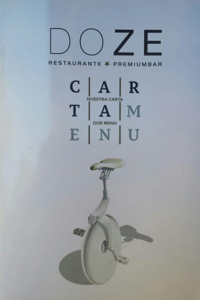 Carta del Restaurante Doze