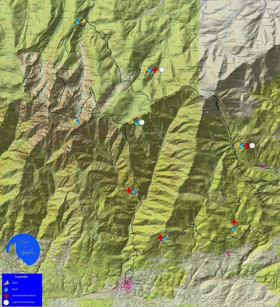 Mapa de Ultra de Gredos