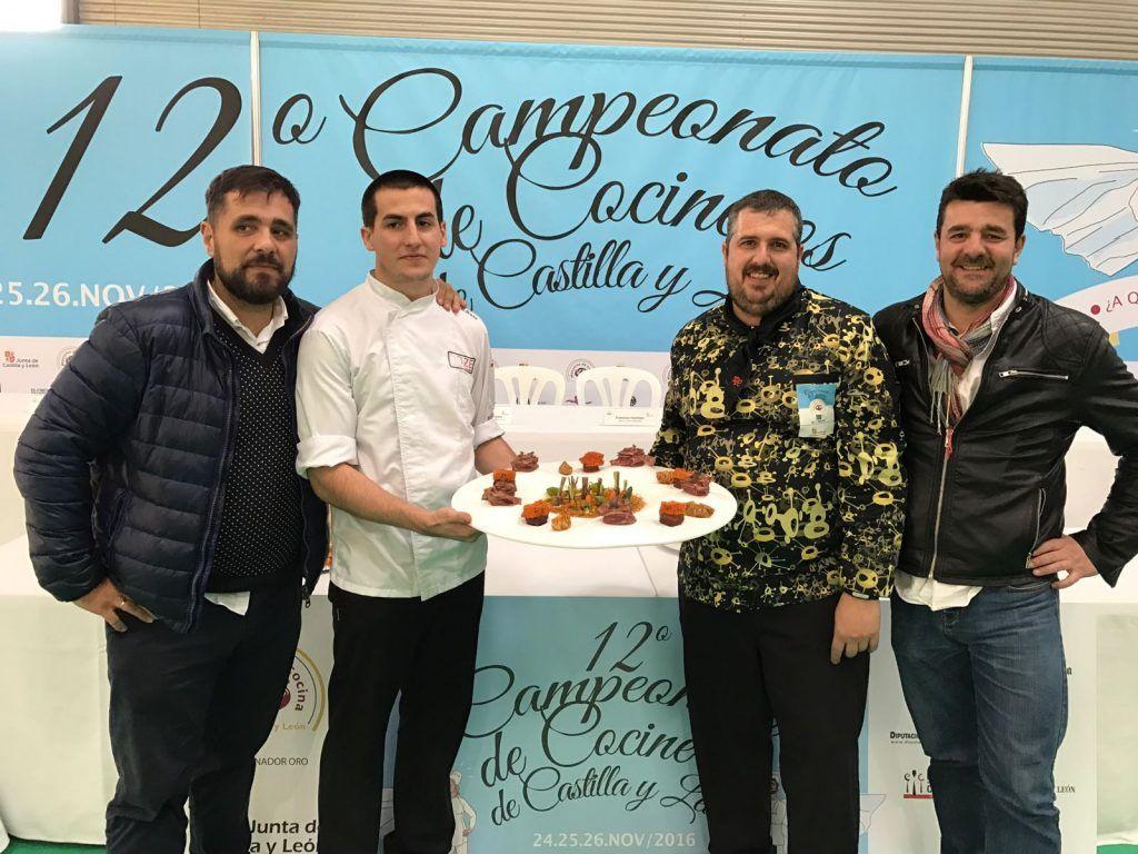 Jesús López en la Semifinal del Campeonato de Cocineros de CyL