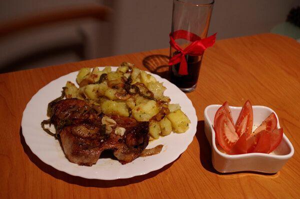 Secreto ibérico al horno con patatas con pimentón